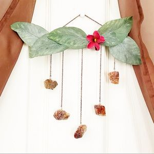 Red Calcite Floral Wall Hanging.